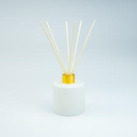 Set parfumfles cylinder wit...