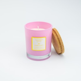 Geurkaars (rozegeur) roze...