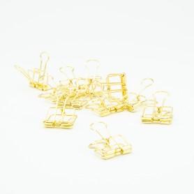 Metalen clips goud - 4 x...