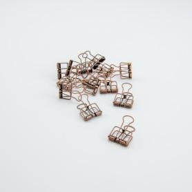 Metalen clips koper - 4 x...