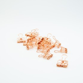 Metalen clips rose gold - 4...