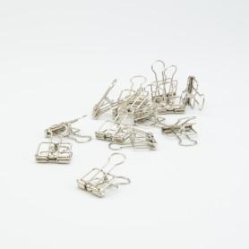 Metalen clips zilver - 4 x...
