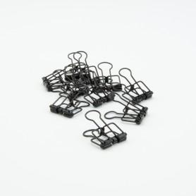 Metalen clips zwart - 4 x...