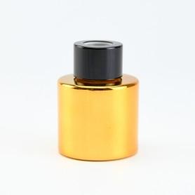 Parfumflesje cylinder goud...