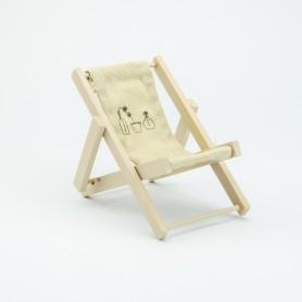 Strandstoel in canvas – crème