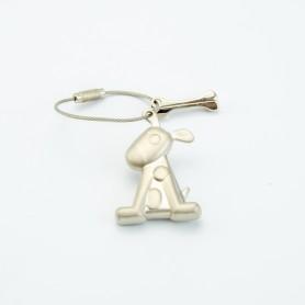 Metaal sleutelhanger hond