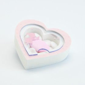 boîte acrylique coeur fille