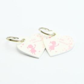 porte-clés fille rose