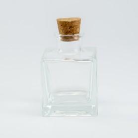 parfumflesje vierkant in...