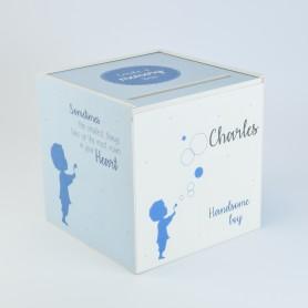 Herinneringsbox jongen blauw
