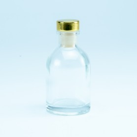 Luxe flesje transparant met...