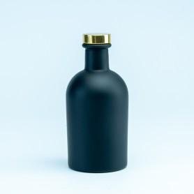 Luxe fles zwart met gouden...