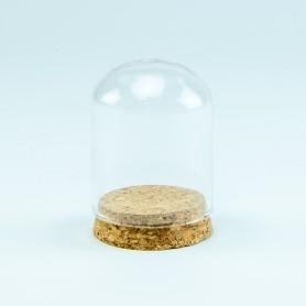 Glazen globe met kurkstop