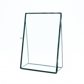 Fotokader op voet in glas -...