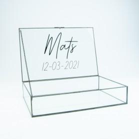 Giftbox rechthoek glas...